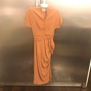 Vintage dress 40's women's beautiful rust XS
